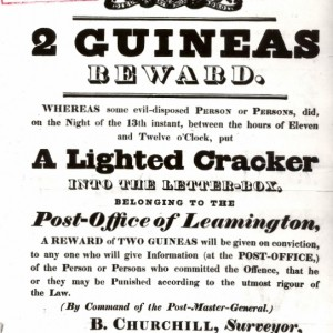 Firecracker! A Leamington Postal Scandal