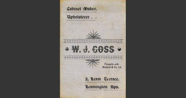 William Goss, House Furnisher