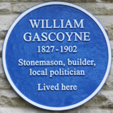 LS Blue Plaque Gascoyne 12 Willes Road MOD 24 Oct 2019