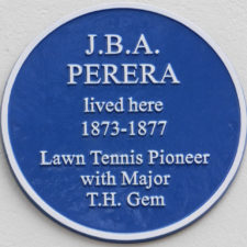 LS Blue Plaque Perera 33 Avenue Road MOD 24 Oct 2019